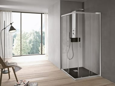 Corner shower cabin with sliding door FORTY | Corner shower cabin