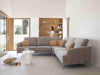 6 seater corner fabric sofa RONDO | Corner sofa