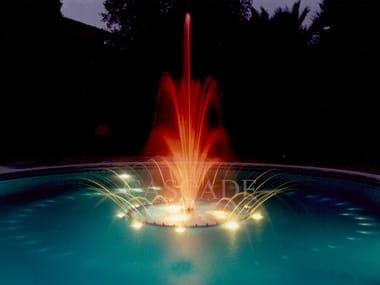 Fontana galleggiante in acciaio inox CORONA REALE
