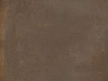 Ecological porcelain stoneware wall/floor tiles with metal effect CORTEN