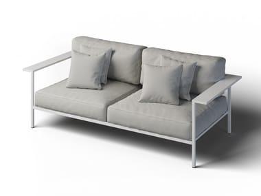 2 seater garden sofa with armrests COSI | Garden sofa