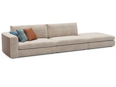 Sofá de tecido com chaise-longues COSILY | Sofá com chaise-longues