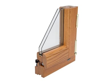 Laminated wood double glazed window COSMO 68
