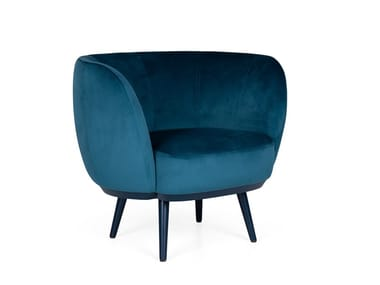 Fabric armchair with armrests COSMO