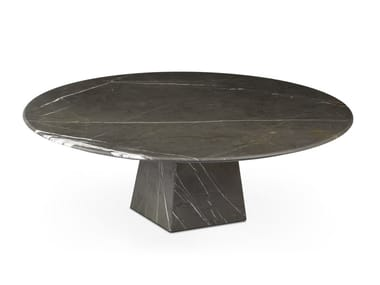 Low round Graphite Marble coffee table COSMOS GRAPHITE | Marble coffee table