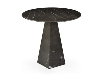 Round Graphite Marble high side table COSMOS GRAPHITE | Round coffee table