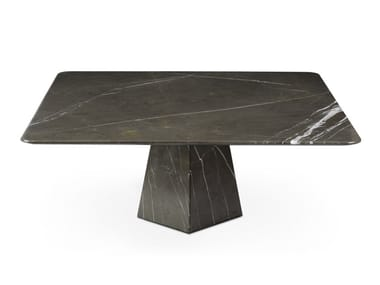 Low square Graphite Marble coffee table COSMOS GRAPHITE | Square coffee table