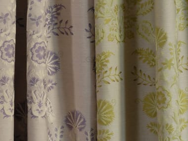 Jacquard fabric with graphic pattern COTTAGE FLORAL