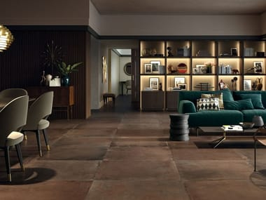 Full-body porcelain stoneware wall/floor tiles with terracotta effect COTTOFAENZA CT