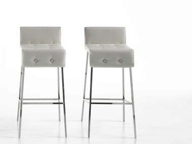 High upholstered barstool MONTERA | High stool
