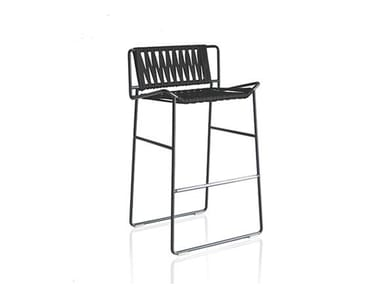 Polyester garden chair with footrest OUT_LINE | Chair
