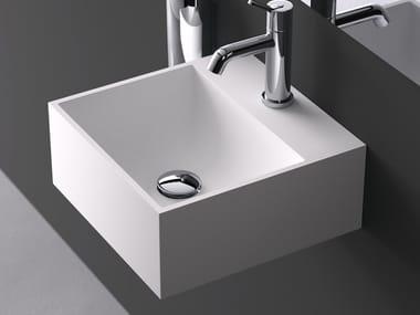 Countertop square Cristalplant® handrinse basin HANDWASH | Countertop handrinse basin