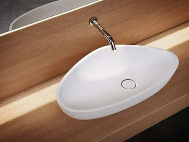 Countertop Cristalplant® washbasin DROP | Countertop washbasin