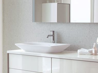 Countertop rectangular ceramic washbasin VIU | Countertop washbasin