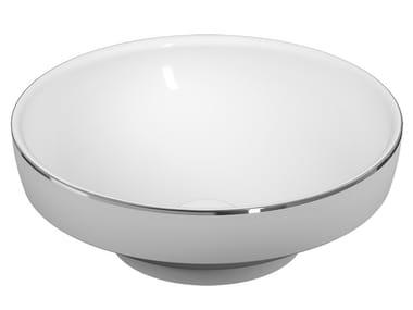 Vasque à poser rond en céramique WATER JEWELS | Vasque à poser
