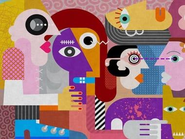 Digital printing wallpaper COUPLES