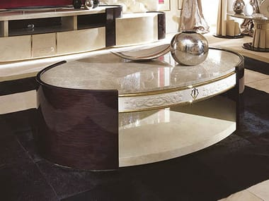 Oval marble bistro side table COUTURE | Oval coffee table
