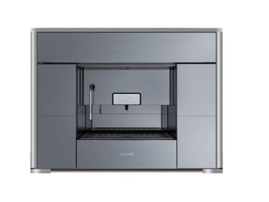Pod table top glass coffee machine COVER+MACCHINA CAFFE'FL S/SILVER