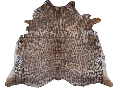 Handmade cowhide rug EMBOSSED CROCO DARK EXOTIC