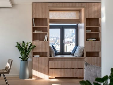 Freestanding oak bookcase with drawers CP LAB DESIGN | Bookcase