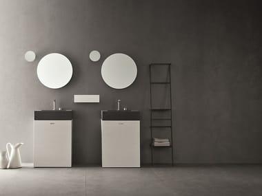 Double oak vanity unit with mirror CR#2.13