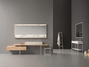 Oak vanity unit with mirror CR#2.08