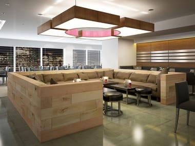Beech restaurant booth CRAFTWAND® | Restaurant booth