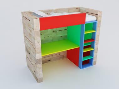 Loft beech kids single bed CRAFTWAND® | Bed