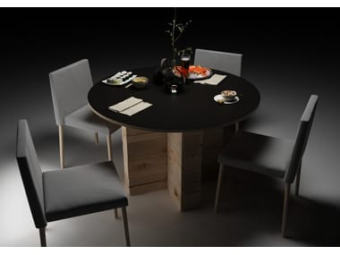 Round beech dining table CRAFTWAND® | Table