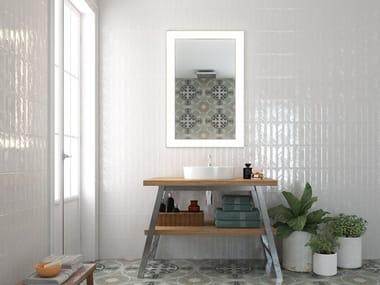 White-paste wall tiles CRAYON