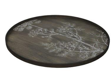Round wooden tray CREAM DILL