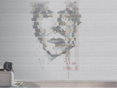 Papel de parede impermeável de tecido não tecido com efeito de tijolos CRESPO