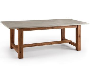 Tavolo rettangolare in cemento CRETO