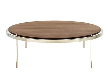 Round wooden coffee table CRI | Wooden coffee table