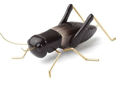 Contemporary style ceramic decorative object CRICKET BLACK