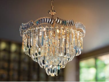 Glass pendant lamp CRISTALLI 6008
