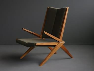 Upholstered armchair with armrests CROCODILE 01 | Armchair