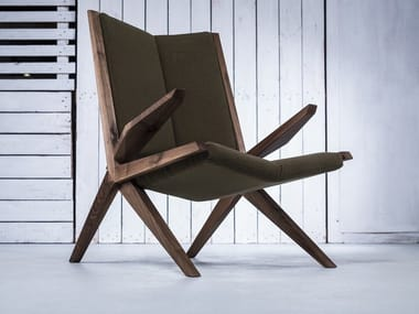 Upholstered armchair with armrests CROCODILE 02 | Armchair