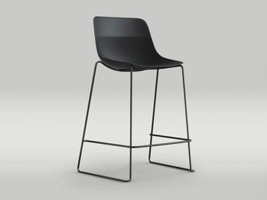 High stackable sled base stool CRONA LIGHT | Sled base stool