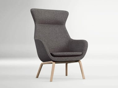 High-back armchair with armrests CRONA LOUNGE | Armchair