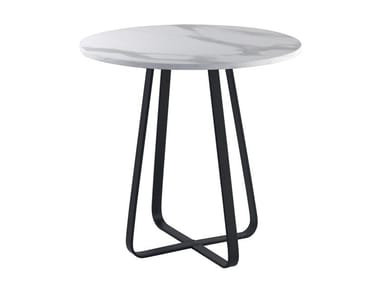 Round laminate table CROSS | Round table