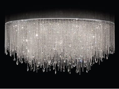 Handmade ceiling light with crystals CRYSTAL DREAM O | Ceiling light