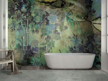 Papel de parede lavável panorâmico de fibra de vidro CRYSTAL FLOWER