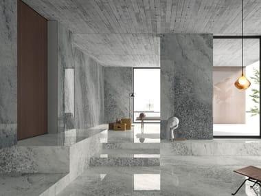 Pavimento/rivestimento in gres porcellanato effetto marmo CRYSTAL GREY