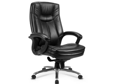 Executive chair with 5-spoke base with armrests CS-608E