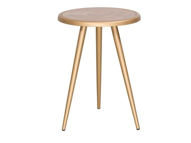 Round wooden coffee table CT-383 | Coffee table