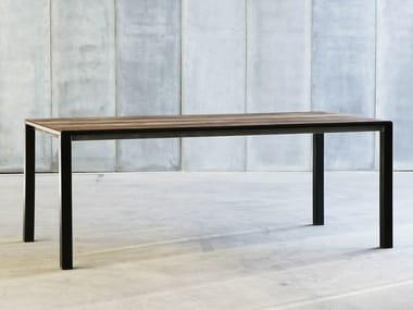 Custom teak table CTR MTM   Teak table