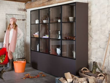 Sectional Xeramica display cabinet CUBE 193   Display cabinet