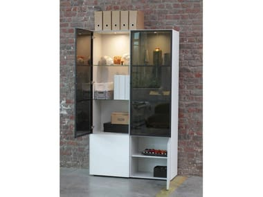 Sectional Xeramica display cabinet with integrated lighting CUBE 193   Display cabinet with integrated lighting