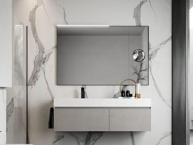 Mobile lavabo sospeso con cassetti CUBIK 28